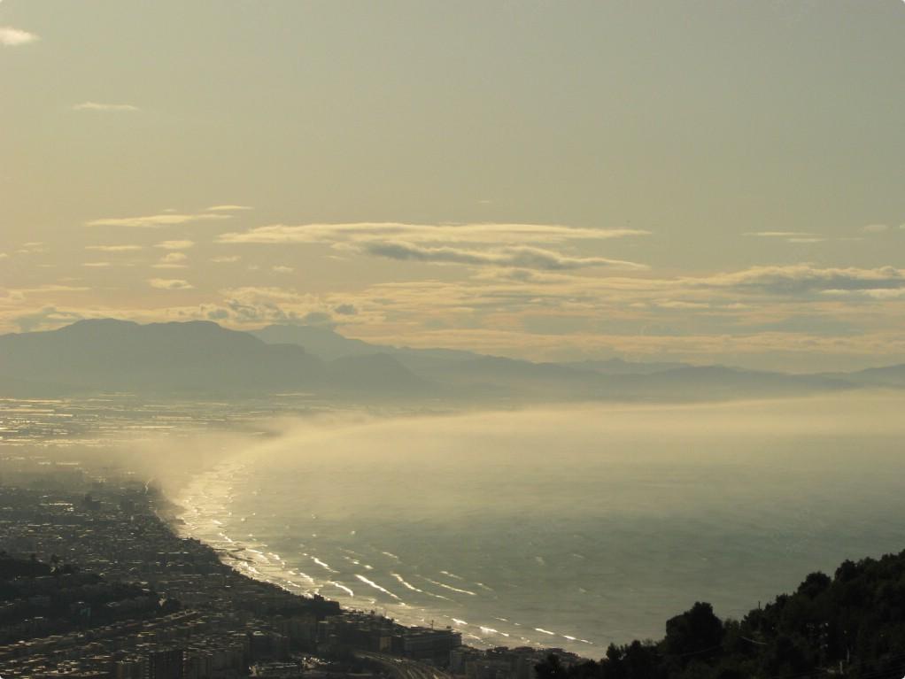 Salerno, alba del 24 ottobre 2009.