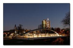 Salford-Brücke und Rathaus in Lünen