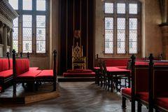 Salone con trono, castello di Praga