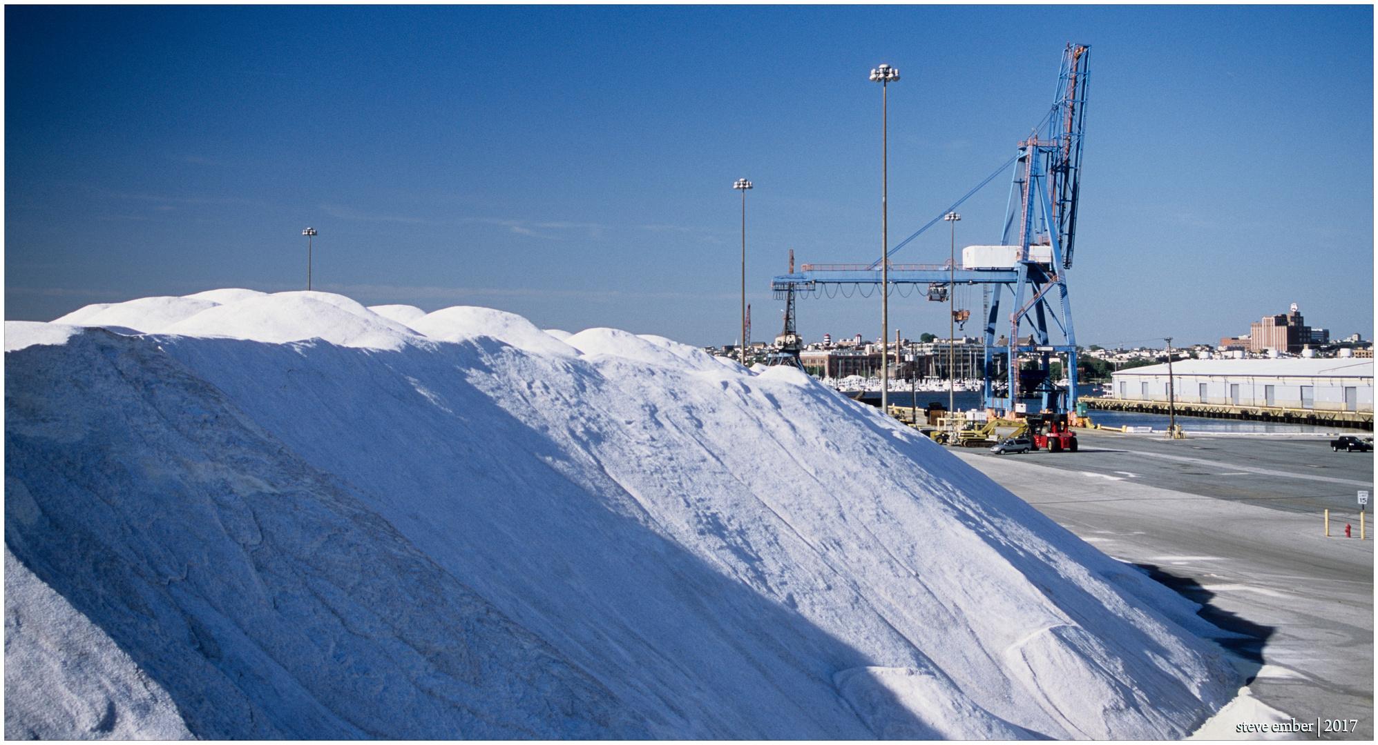 Salt Pile and Gantry