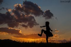 Saltando al tramonto