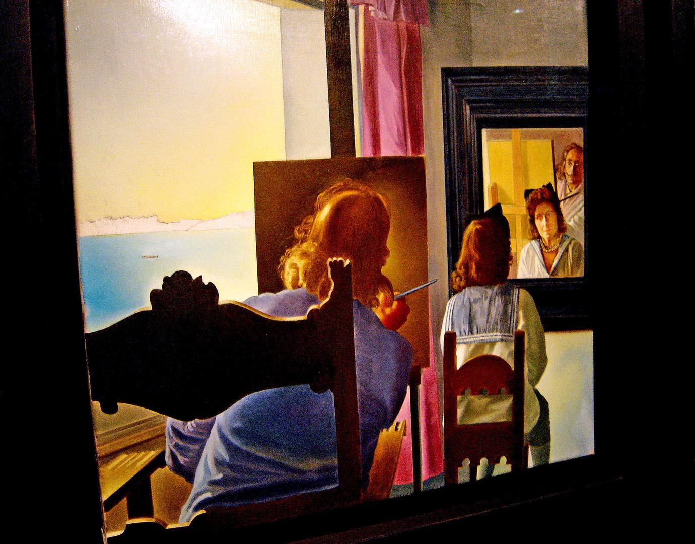 salvador dal 39 self portrait 39 from behind gala. Black Bedroom Furniture Sets. Home Design Ideas