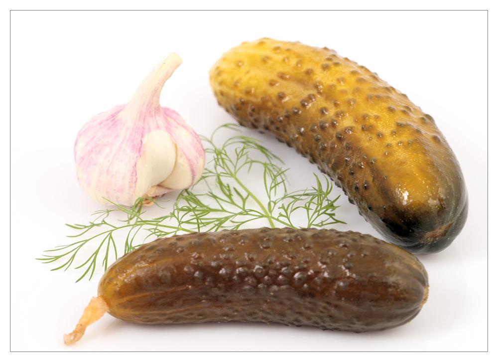 Salz-Dillgurken mit Knoblauch