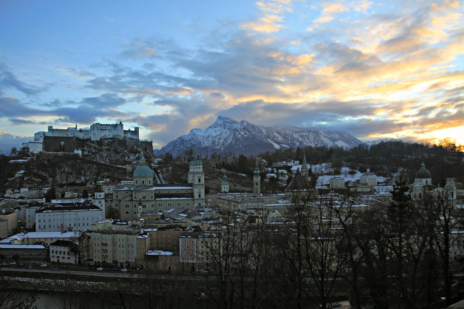 Salzburg blaue Stunde