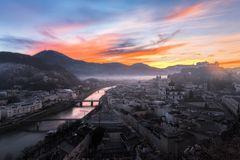 Salzburg Sonnenaufgang Reflexion