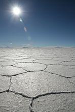 Salzsee bei Uyuni/Bolivien
