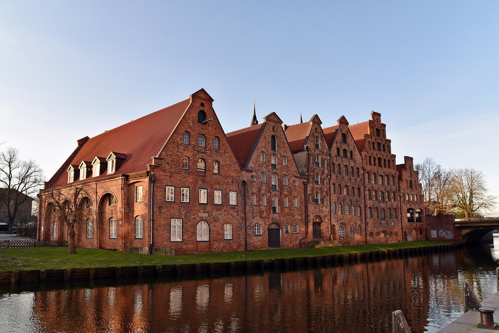 Salzspeicher an der Obertrave in Lübeck