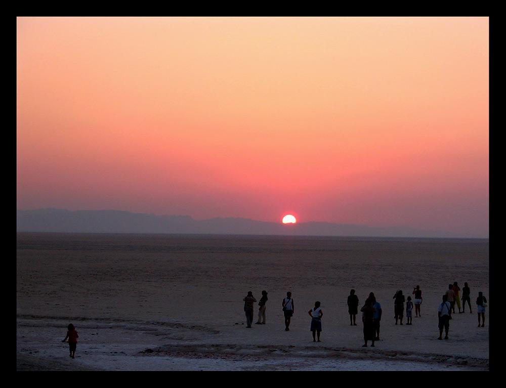 Salzwüste Tunesiens