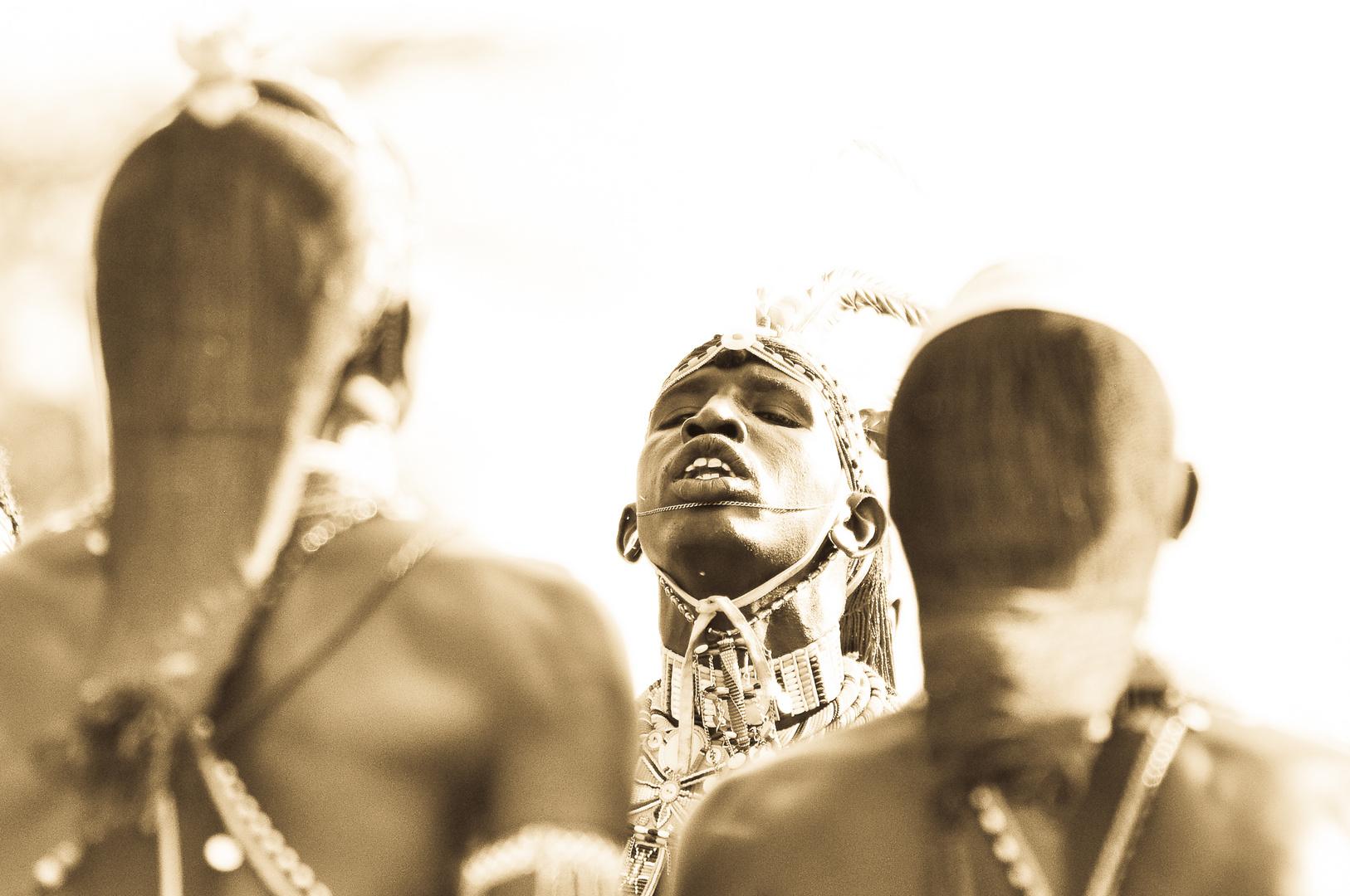 Samburu Krieger beim Tanz