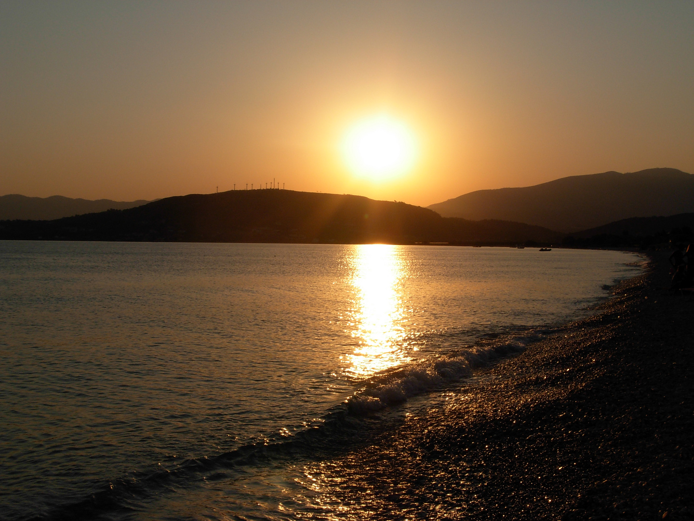 Samos, Grecia, tramonto.