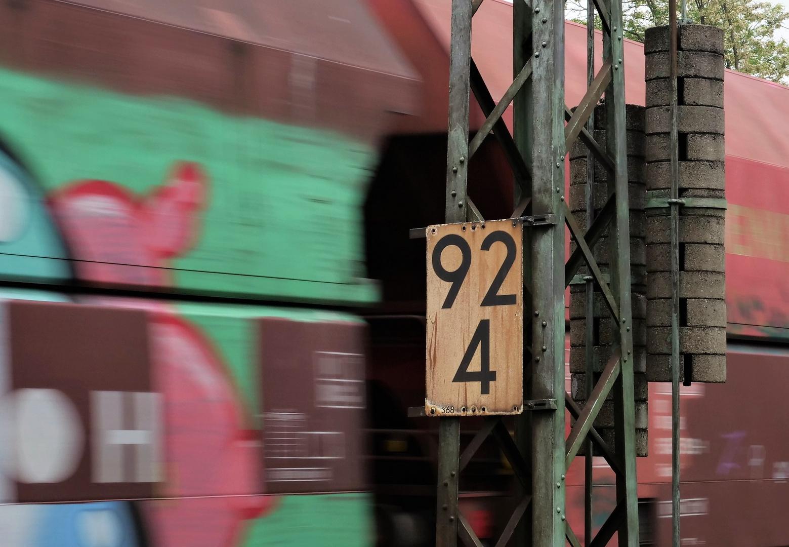 Samstag ist Zahl Tag: Streckenkilometer- Knipps
