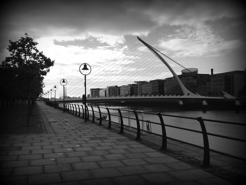 Samuel Beckett Brücke am Morgen