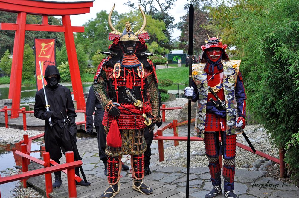 Samuraikrieger in prächtiger Rüstung