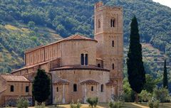 san antimo, abbaye pres de montalcino, toscane
