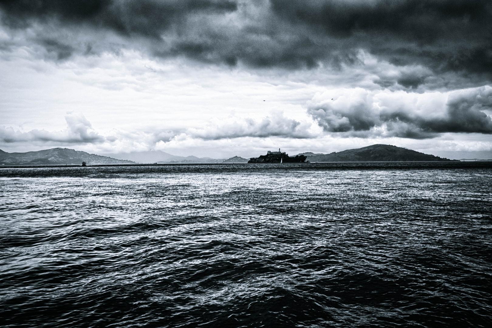 San Francisco Bay mit Alcatraz