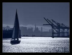 San Francisco von Oakland aus gesehen