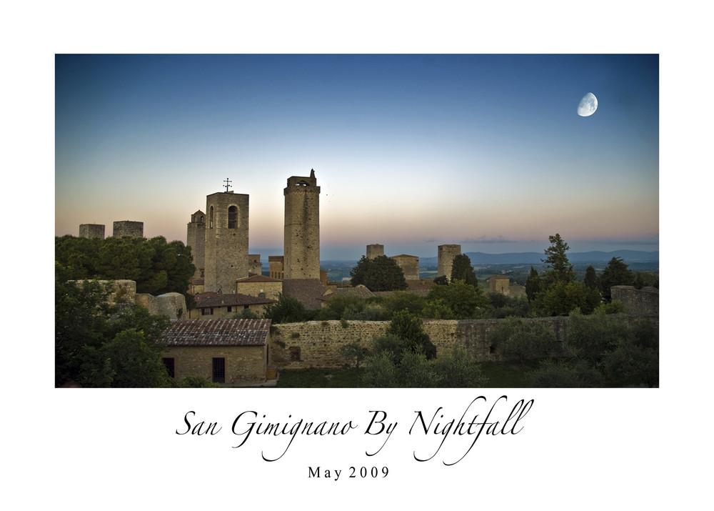 San Gimignano By Nightfall