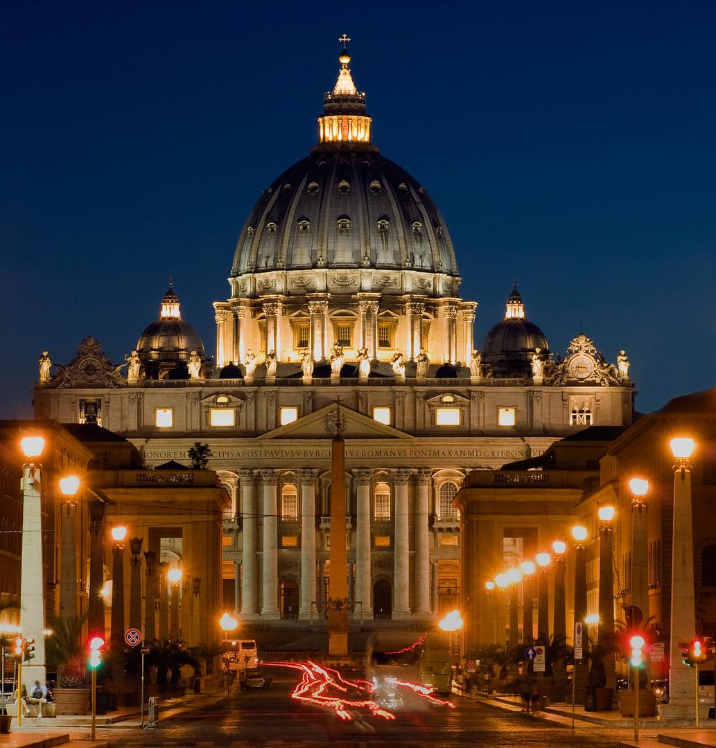 """San Pietro in Vaticano"" by night"