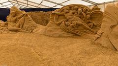 Sand-Skulpturnen -Festival-Binz 2020 (1) -  Die Schöpfungsgeschichte