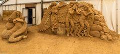 Sand-Skulpturnen -Festival-Binz 2020 (2) - Im Garten Eden -