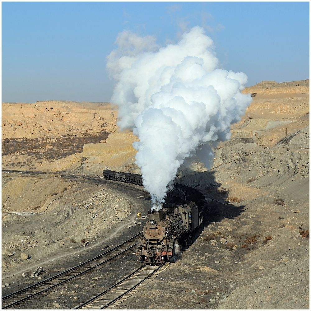 Sandaoling - Vormittagsimpressionen vom Kohleverkehr V