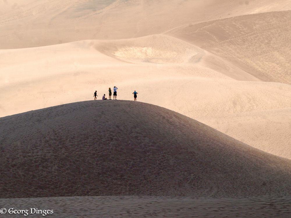 Sanddünenwandern bis nach oben. 20120715