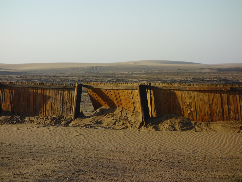 Sandschutzzaun