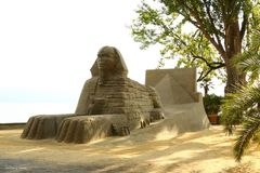 Sandskulptur auf der Insel Mainau