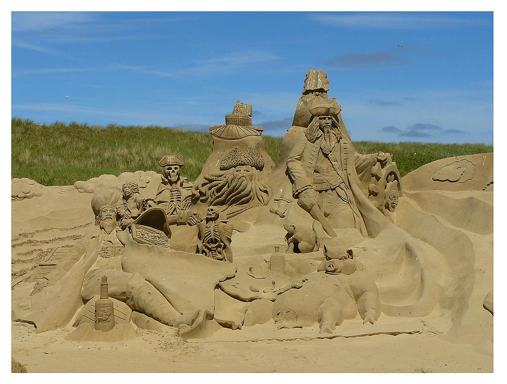 Sandskulpturen auf Texel 1