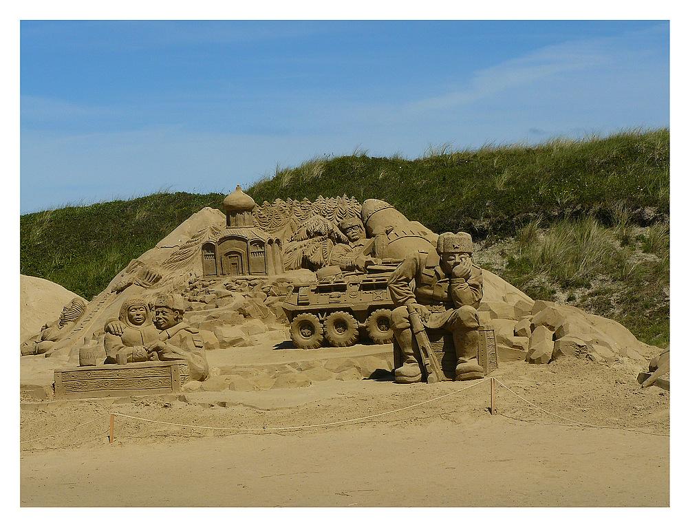 Sandskulpturen auf Texel 2