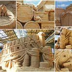 Sandskulpturen in Travemünde - Auf dem Schiff