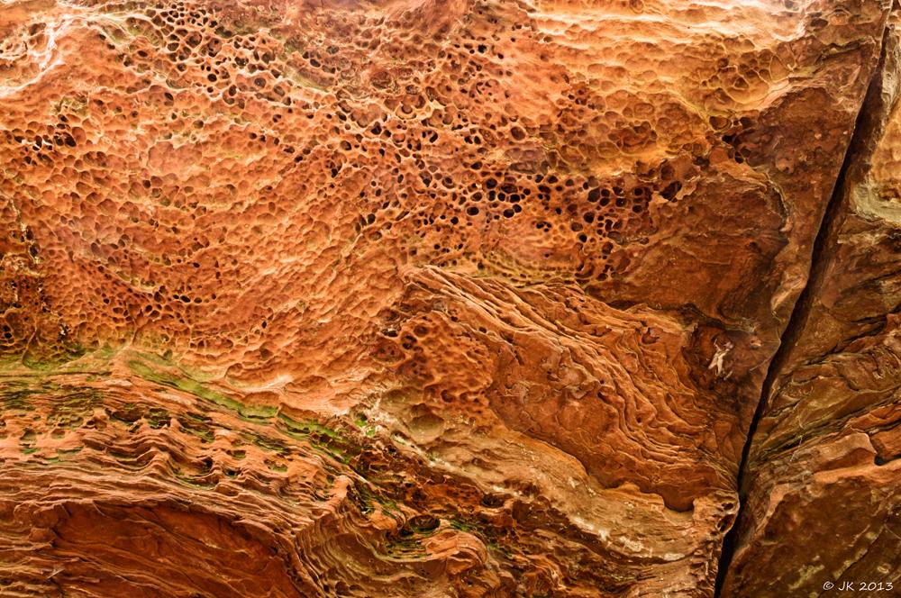 Sandstein-Plafond
