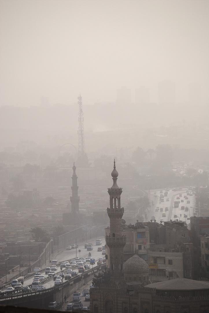 Sandstorm on Cairo city
