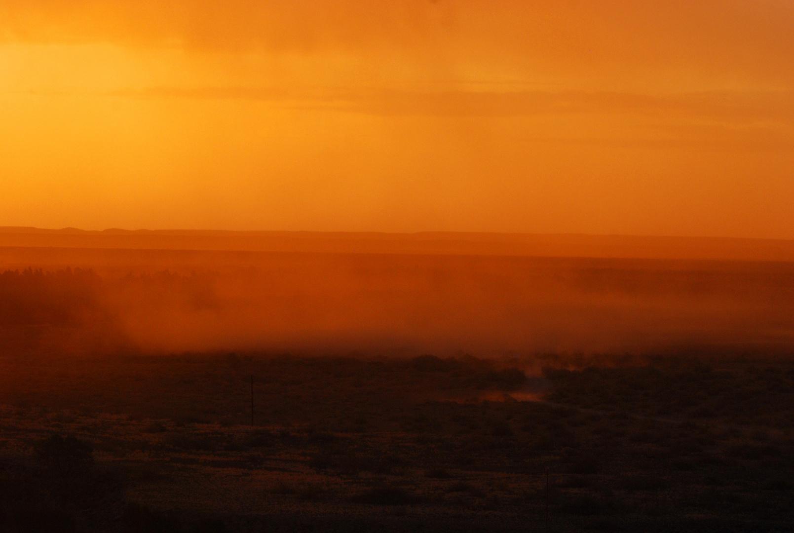 Sandstorn am Naute Damm