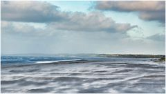 Sandsturm am Strand