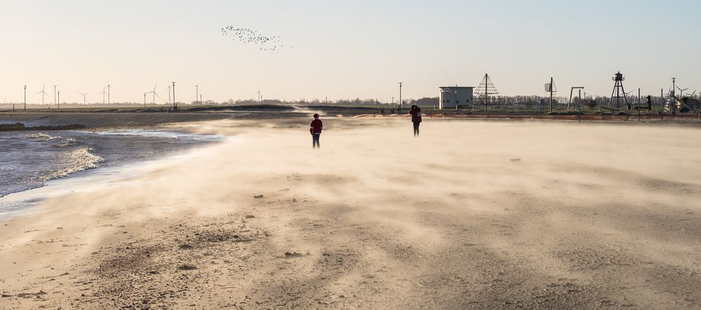 Sandsturm am Strand...
