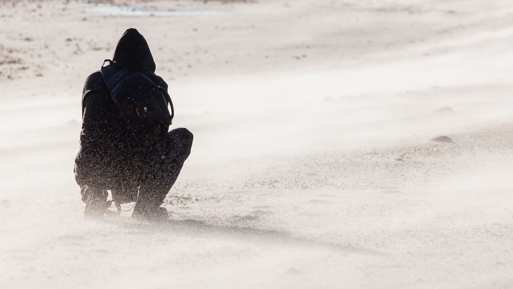 Sandsturm am Strand...III