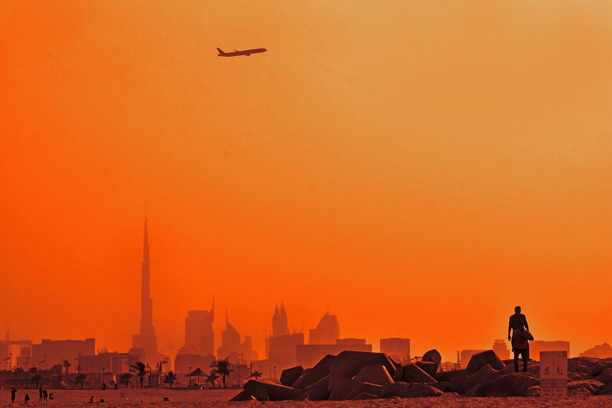 Sandsturm über Dubai