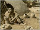 Sandworld 2003 - Szene aus einem afrikanischen Dorf