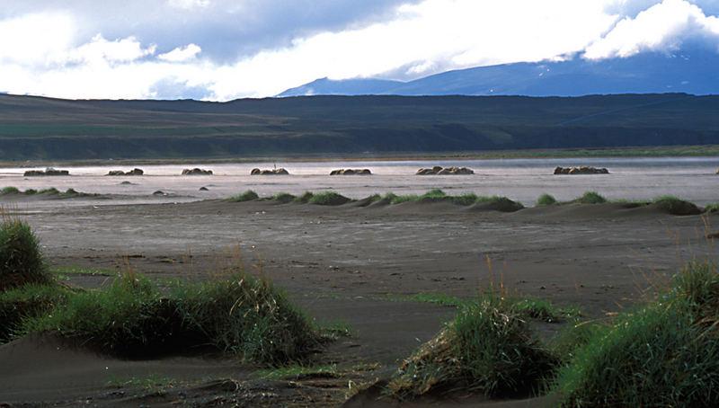 Sandy beach on Hegranes