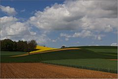 Sanftes Hügelland ...