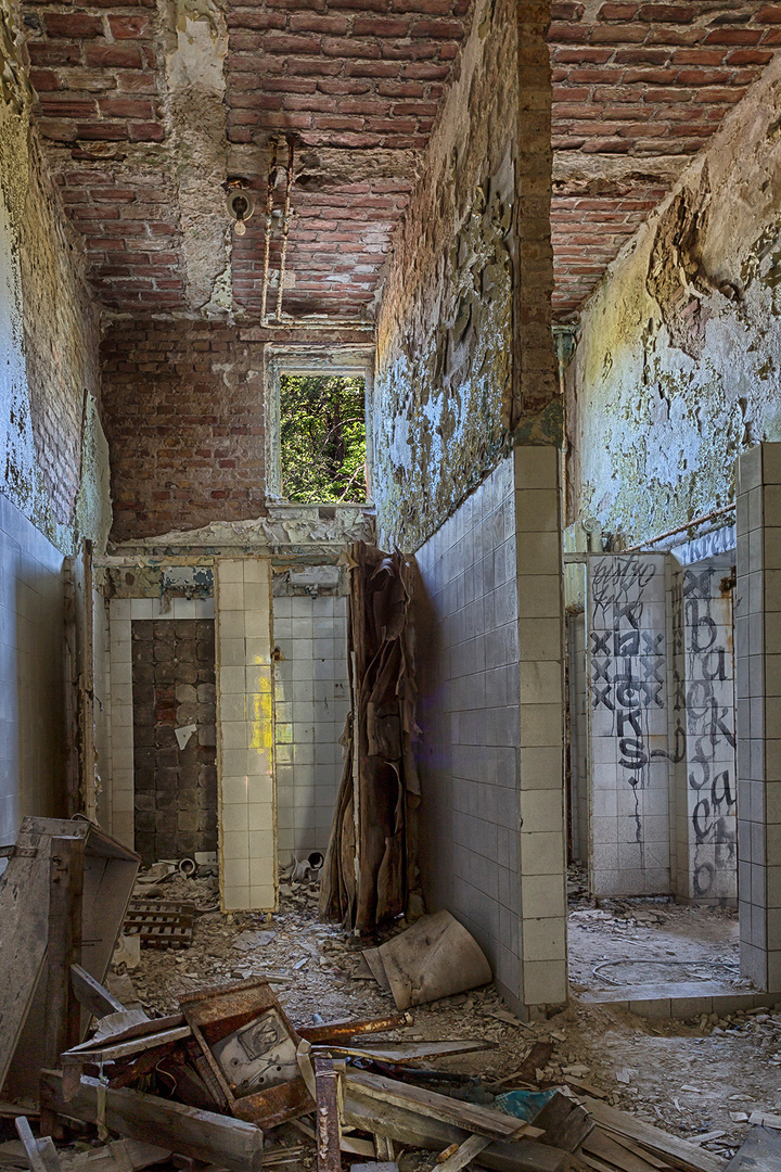 Sanitärbereich einer Heilstätte