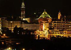 Sankt Moritz bei Nacht (Badrutt's Palace Hotel)