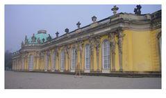 Sanssouci bei Morgennebel