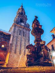 Santiago de Compostela - Kathedrale / Fonte dos Cabalos
