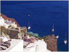 Santorin - mit Meerblick