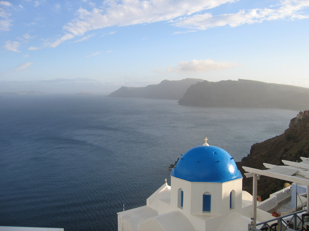 Santorini Blue Light