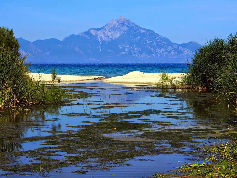 Sarti Beach view on ...