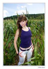 Saskia im Mais
