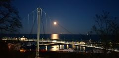 Sassnitz Hafen im Mondaufgang